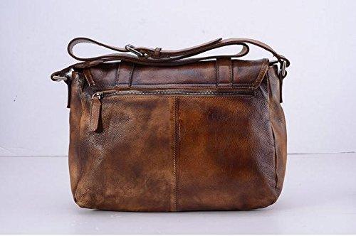 Gehobene Herren Retro-Schulter/Diagonale/Taschen / / Wildleder Leder/Europa und Freizeit/Big-bags Brown