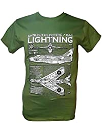 The Wooden Model Company Ltd English Electric Lightning -Military T Shirt with Blueprint Design