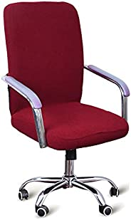 SKLXNG Office Computer Chair Cover, Universal Replacement Removable Rotating Stretch Resilient Desk Boss Armch