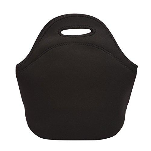 GLJY Isolierte Lunch Bag Leichte Wiederverwendbare Lunch Tote Box Kühler Für Kinder Männer Frauen Picknick Schule Arbeit,Black,31X16x23cm (Tote 31 Kühler)