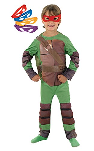 Kostüm Ninjas Turtles - Rubie's 3 886812 L - Teenage Mutant Ninja Turtles Deluxe Kind Kostüm, Größe L