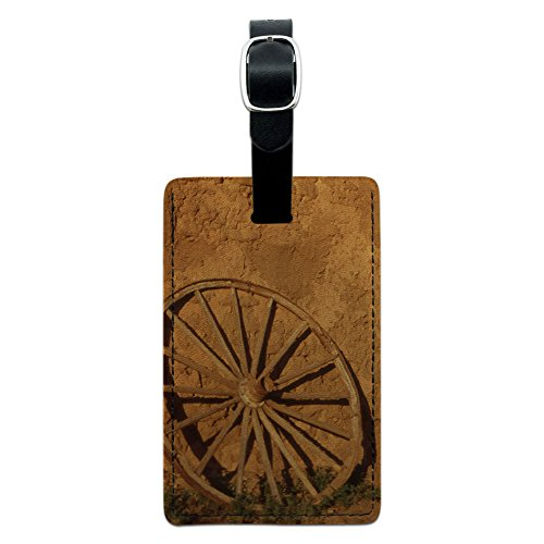 Western Wagon Rad – Fort Union Southwest New Mexiko Leder Gepäck ID Tag