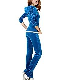 Amazon.fr   jogging femme velours - Survêtements   Sportswear ... d3fec972bbf