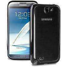 Puro Clear Cover - Funda para Samsung N7100, Galaxy Note 2, color negro