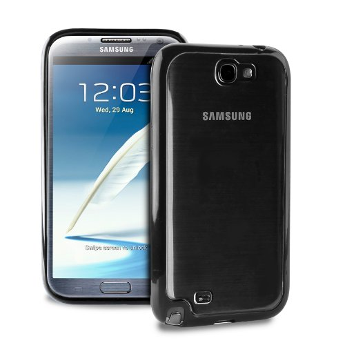 Puro SGGNOTE2CLEARBLK Clear Cover Galaxy NOTE II Black
