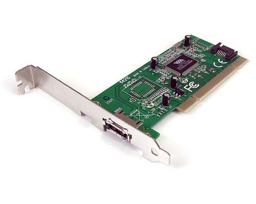 StarTech.com 1 Port eSATA/SATA PCI Controller Schnittstellenkarte inkl. Low Profile Slotblech - (Computer Startech 1)