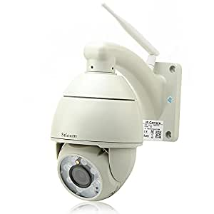 Outdoor Weatherproof PTZ Speed Dome IP Camera - P2P, H.264, 720p, Wi-Fi, Motion Detection, 8x Array LEDs, 50 Meter Night Vision