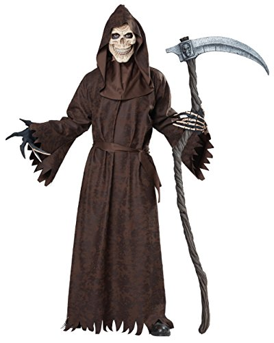 Guy Kostüm Big - Ancient Grim Reaper Adult Costume, Large/X-Large, Brown