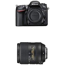 Nikon D7200 Appareil photo numérique Réflex 24,72 Mpix Boîtier Nu Noir et Nikon 2216 18-300 mm / F 3.5-6.3 AF-S G DX ED VR Objectifs 18 mm