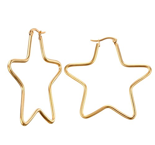vnox-mujeres-girls-acero-inoxidable-simple-gran-estrella-forma-hoop-pendientes-oro-clip-top