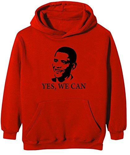 Touchlines Kinder Kapuzen Sweatshirt Barack Obama YES WE CAN, red, 152/164, KK124 Barack Obama Sweatshirt
