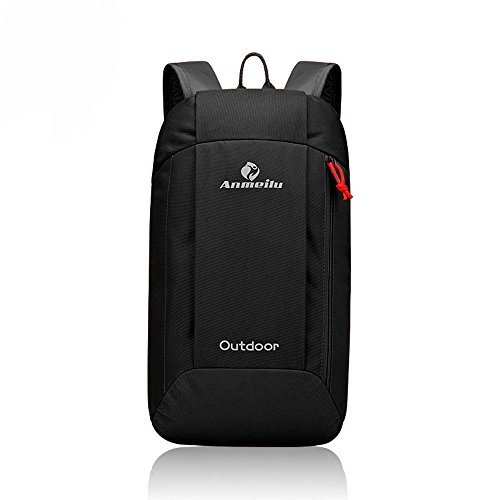 2fdb8460e3 WOYYHO Mini Black Backpack Purse Lightweight Daypack Nylon Little Strong  Hiking Backpack and Bookbags for Kids