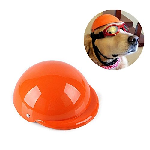 Hund Helm,MyTop Haustier Hüte Motorradhelm ABS-Kunststoff