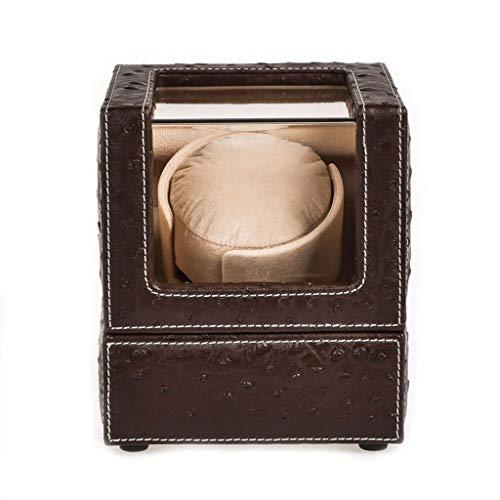 QLL003 QLL Automatischer Uhrenbeweger, PU Samtkissen,für Eine Uhr,mit Super Leiser Motor Und 5 Modus (Farbe : Braun, größe : 13x13x15.5cm) -