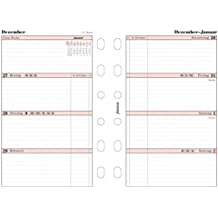 Filofax 6827516 Pocket Professional 1 Woche auf 2 Seiten, deutsch 2016 Kalendereinlage, weiß