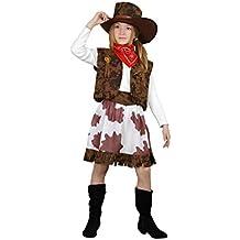 9350d6d9b6521 Disfraz de Vaquera marrón y blanco en varias tallas para niña