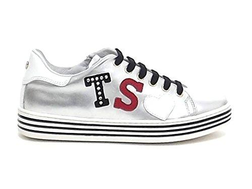 Twin Set, Damen Sneaker Grau silber/schwarz 39