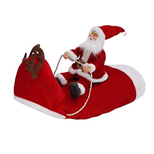 SODIAL Weihnachten Hunde Bekleidung Santa Hunde KostüM Urlaub Party Dress Up für Mittel Gro?E Hunde Lustig Haustier KostüM Reiten -
