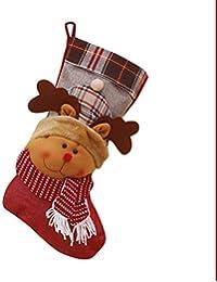 Decoración de la chimenea Calcetines de navidad Medias de navidad calcetines de punto Adornos de navidad