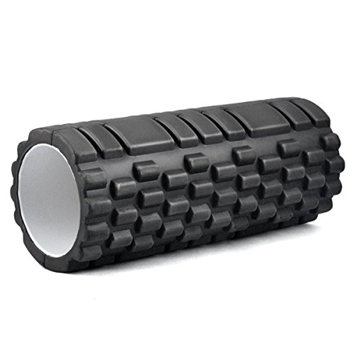 kabalo-1-x-textured-exercise-yoga-foam-roller-for-gym-pilates-physio-trigger-point-black