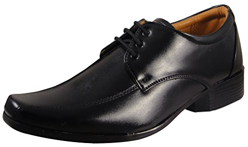 Action Shoes Men's Black Formal Shoes - Uk/India 7