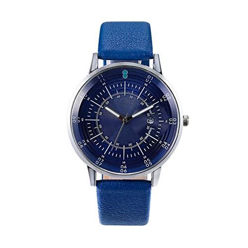 UINGKID Collection Unisex-Armbanduhr Mode-Business einfache Multi-Skala-Zifferblatt Kalender Gürtel Dornschließe Quarzuhr