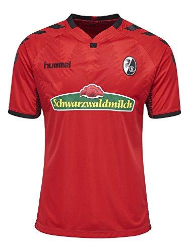 Hummel SC Freiburg SCF Fußball Trikot Home 2017 2018 Kinder Kurzarm rot schwarz Größe 116