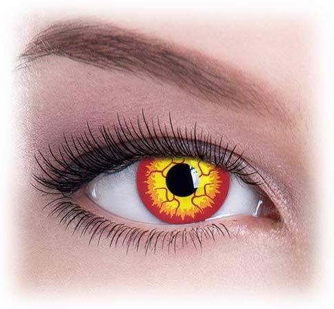 Farbige Kontaktlinsen, Ohne Stärke, Jahreslinsen, Halloween Darth Maul