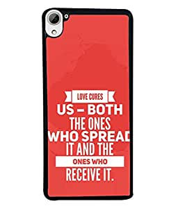 Fuson Designer Back Case Cover for HTC Desire 826 :: HTC Desire 826 Dual Sim (Red Typography Loving Boy Girl Couple Male Female)