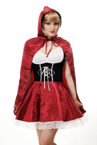 Red Kostüm Sexy Riding Hood Little - Kostüm Damen Damenkostüm Sexy Rotkäppchen Red Riding Hood Barock Gothic Lolita Märchen Cosplay L064 Gr. 36 / S