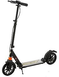 Ancheer Cityroller Tretroller mit Doppelfederung für Erwachsene | 205mm Räder Roller Scooter Klappbar und Höhenverstellbar, City-Roller Tret-Roller für Jugendliche und Kinder ab 12 Jahre bis 100kg