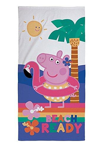 MA ONLINE Peppa Pig - Toalla de Playa para Niños, Diseño de Gallo, Color Rosa, Peppa Pig Towel, Talla única