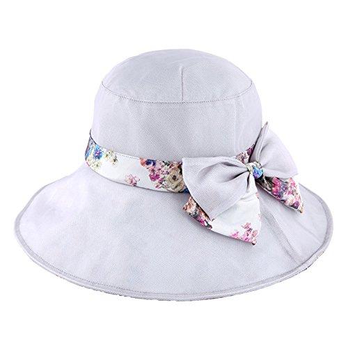Chapeau de soie/Chapeaux de dames UV soleil de l'été/Chapeau de plage pliable/Chapeau de soleil B
