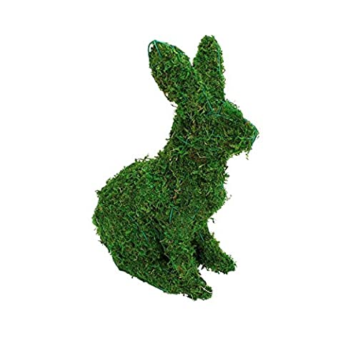 Gardensity ® Topiary Animals Full Kit Artificial Garden Topiary Animals Frame & Pre Filled (Green Rabbit)