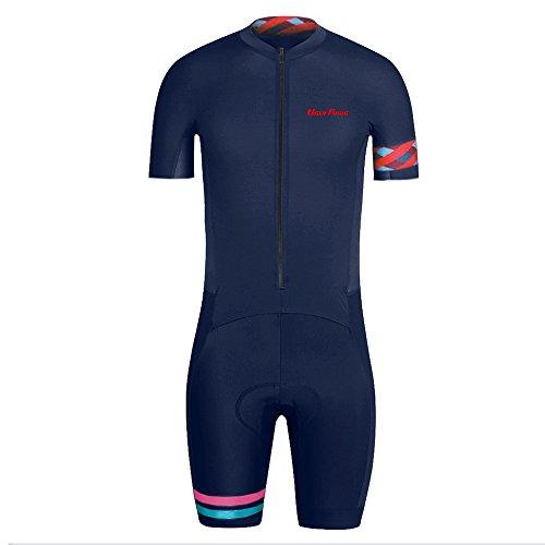 Castelli Radfahren Weste (Uglyfrog Sommer Herren Männer MTB Triathlon Radfahren Trikots & Shirts+Trägerhosen Anzüge with Gel Pad Sport Bekleidung ZD10)