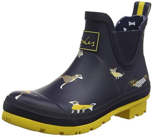 Tom Joule Joules Damen Wellibob Gummistiefel, Blue (Navy Harbour Dogs Navhrbdogs), 39 EU