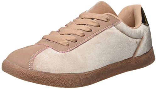 Bianco BiancoRose Samt Sneaker - Tobillo Bajo Mujer, Color Rosa, Talla 39 EU