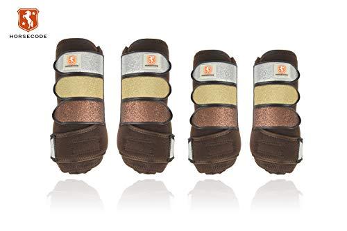 Horsecode Gamaschen 4er Set Brown Glitter & Go Warmblut