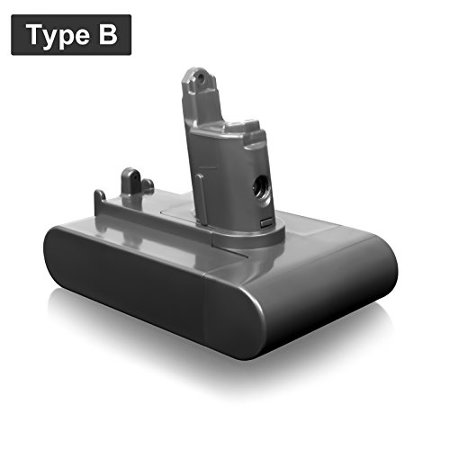 FLAGPOWER 22.2V 2.0Ah Akku Hand Staubsauger Batterie Typ B für Dyson DC31 DC34 DC35 DC44 DC45 917083-01 91708301 22.2V 2000mAh Li-ion Accu (TYP B) (Motor Bürsten-ersatz)