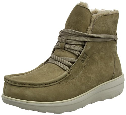FitFlop Damen Loaff Lace-Up Ankle Shearling Chukka Boots, Beige (Desert Stone 478), 40 EU -