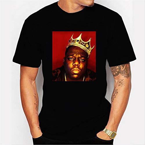 INSTO T-Shirt Mode 3D Drucken Kurz Ärmel T-Stück Rapper Biggie Gedruckt Unterhemd Unisex Tragen Gemütlich / A4 / 3XL
