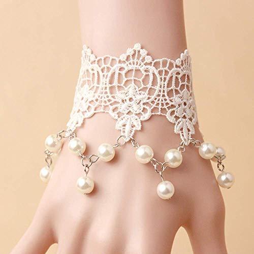 d Original DIY White Lace Pearl handgefertigte Armband Retro-Schmuck ()