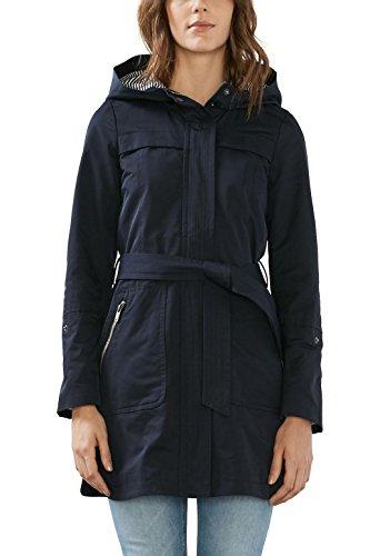 edc by Esprit 027cc1g021, Manteau Femme, Bleu (Navy), 34 (Taille Fabricant: X-Small)