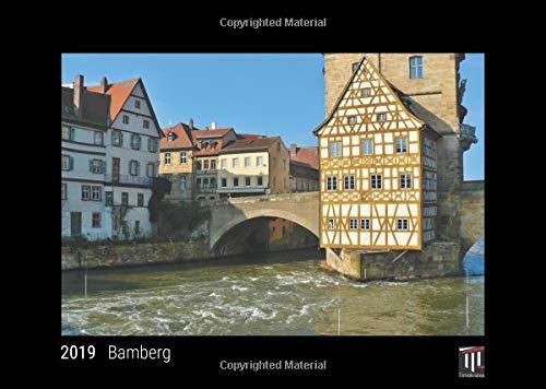 Bamberg 2019 - Black Edition - Timocrates wall calendar, picture calendar, photo calendar - DIN A3 (42 x 30 cm)