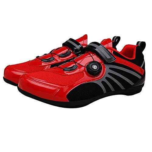 scarpe da ciclismo riflettenti per uomini e donne, Con manopola Scarpe da equitazione senza serratura, Scarpe da corsa da strada, Sneakers da mountain bike traspiranti 36 yarde - 44 yarde
