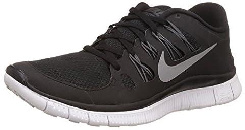 Nike Free 5.0+ 580591-002 Damen Laufschuhe Schwarz (Black/Metallic Silver-Dark Grey-White) 38.5
