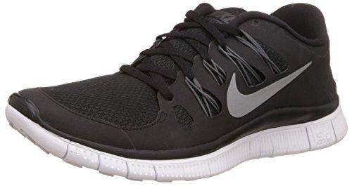 Nike Free 5.0+ 580591-002 Damen Laufschuhe Schwarz (Black/Metallic Silver-Dark Grey-White) 38.5 (Free Nike 50)