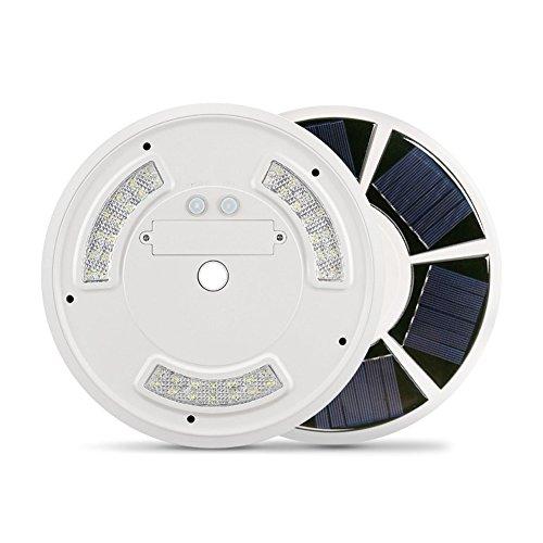 Gmxop 42 LED Solar Flag Pole Light Gancho Waterproof