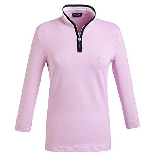 golfino-polo-de-golf-fonctionnel-a-manches-3-4-pour-femme-slim-fit-rose-ml