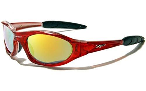 X-Loop Lunettes de Soleil - Sport - Cyclisme - Ski - Conduite - Moto - Plage / Mod. 1002 Jaune Fumés / Taille Unique Adulte / Protection 100% UV400 p1UGA